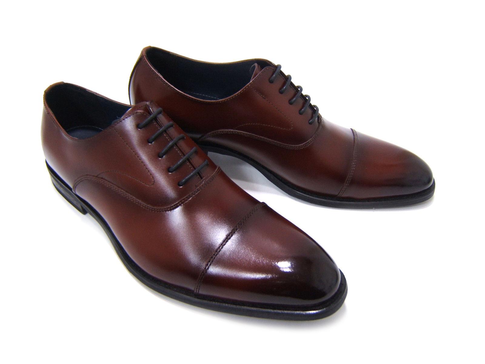 品のあるストレートチップトゥが魅力!The紳士靴!HIROKO KOSHINO/ヒロコ コシノ ビジネス紳士靴 ブラウン ストレートチップ ロングノーズ3Eワイズ ビジネス 送料無料