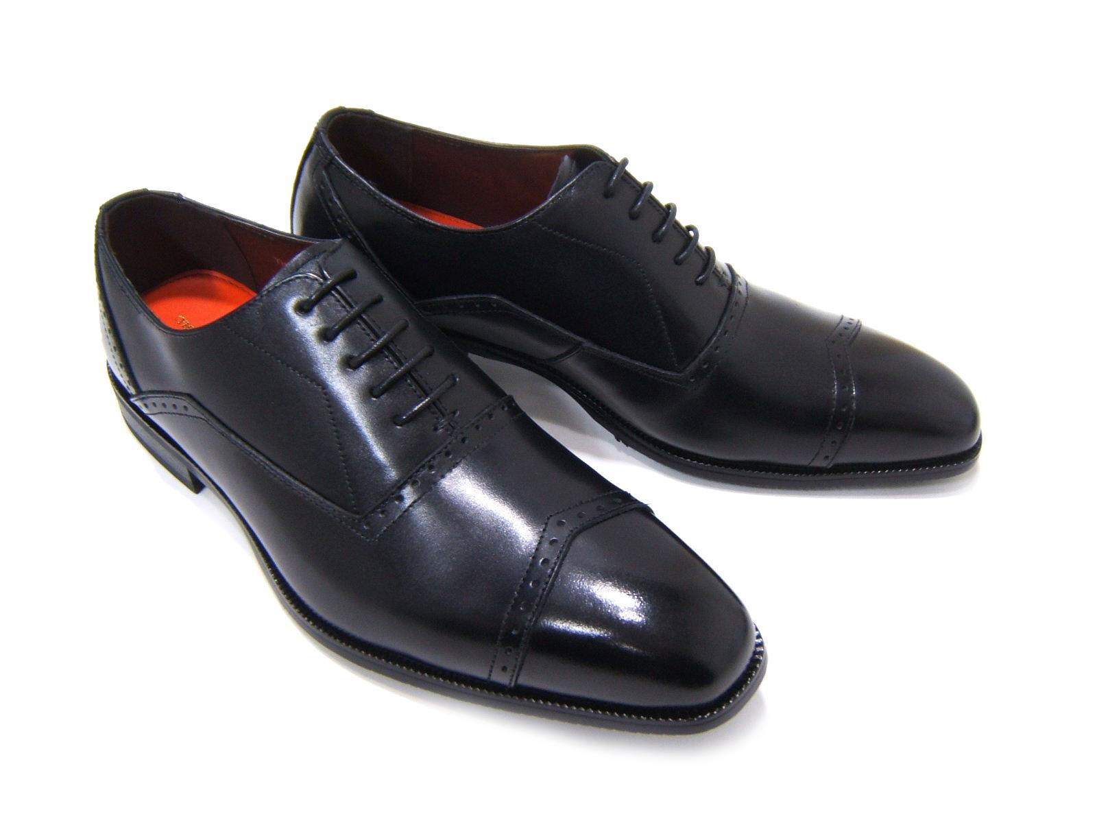 上品で遊び心ある大人の紳士ビジネスシューズ!YUKIKO HANAI/ユキコ ハナイ ビジネスYH-3301 紳士靴 ブラック ストレートチップメダリオン ビジネス 送料無料