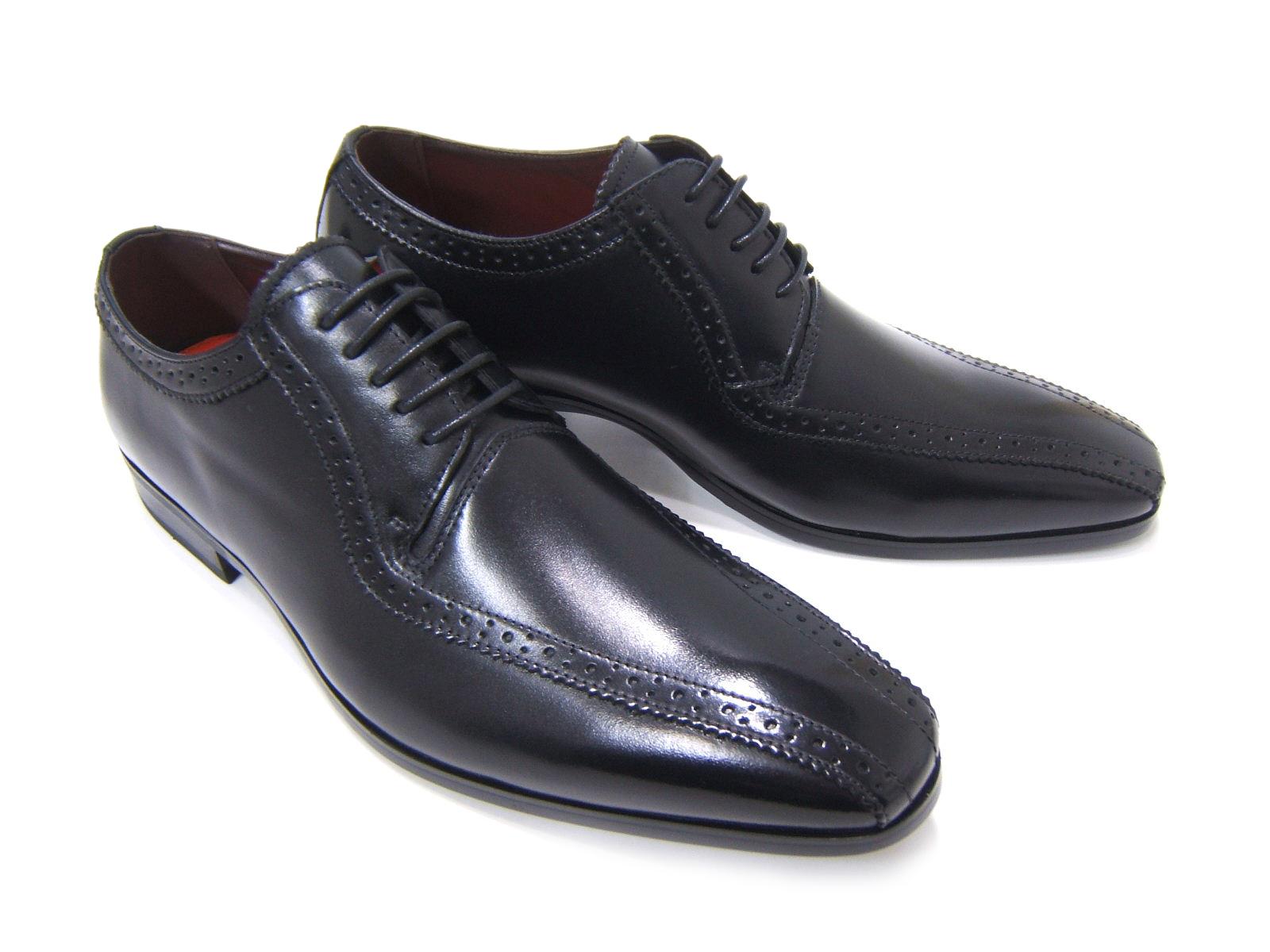 上品で遊び心ある大人の紳士ビジネスシューズ!YUKIKO HANAI/ユキコ ハナイ ビジネスYH-3113 紳士靴 ブラック スワールモカ外羽根 ビジネス フォーマル 送料無料