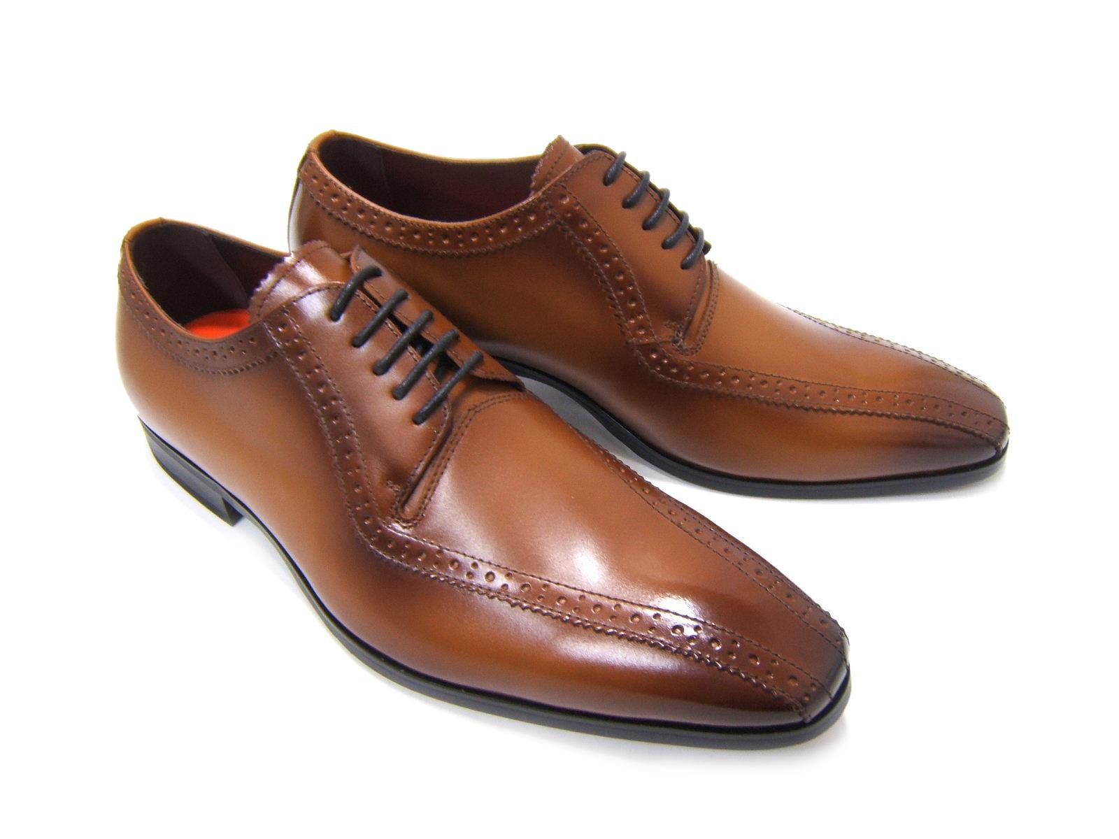 上品で遊び心ある大人の紳士ビジネスシューズ!YUKIKO HANAI/ユキコ ハナイ ビジネスYH-3113 紳士靴 ライトブラウン スワールモカ外羽根 ビジネス フォーマル 送料無料