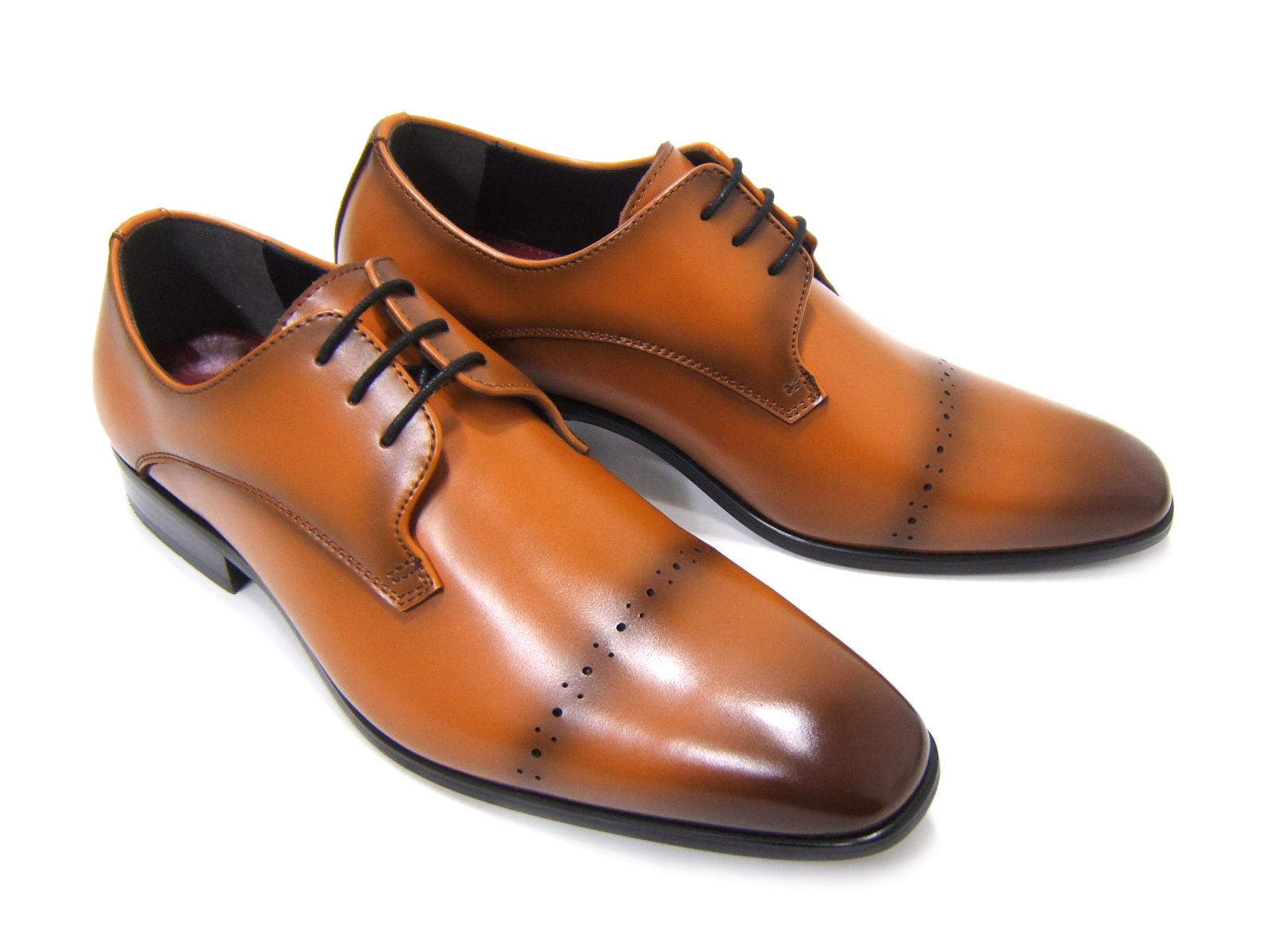 上品で遊び心ある大人の紳士ビジネスシューズ!YUKIKO HANAI/ユキコ ハナイ ビジネスYH-1601 紳士靴 ライトブラウン ストレートチップ飾り穴/メダリオン ビジネス 送料無料 ポイント10倍