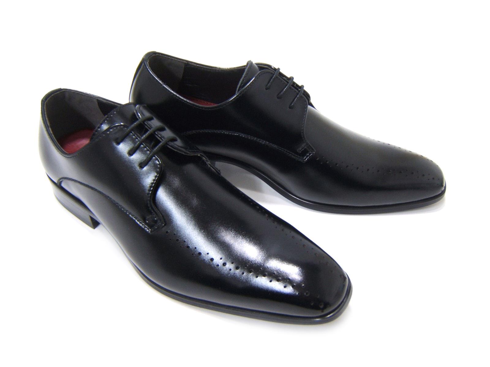 上品で遊び心ある大人の紳士ビジネスシューズ!YUKIKO HANAI/ユキコ ハナイ ビジネスYH-1603 紳士靴 ブラック スワールモカ飾り穴/メダリオン 外羽根 ビジネス 送料無料 ポイント10倍