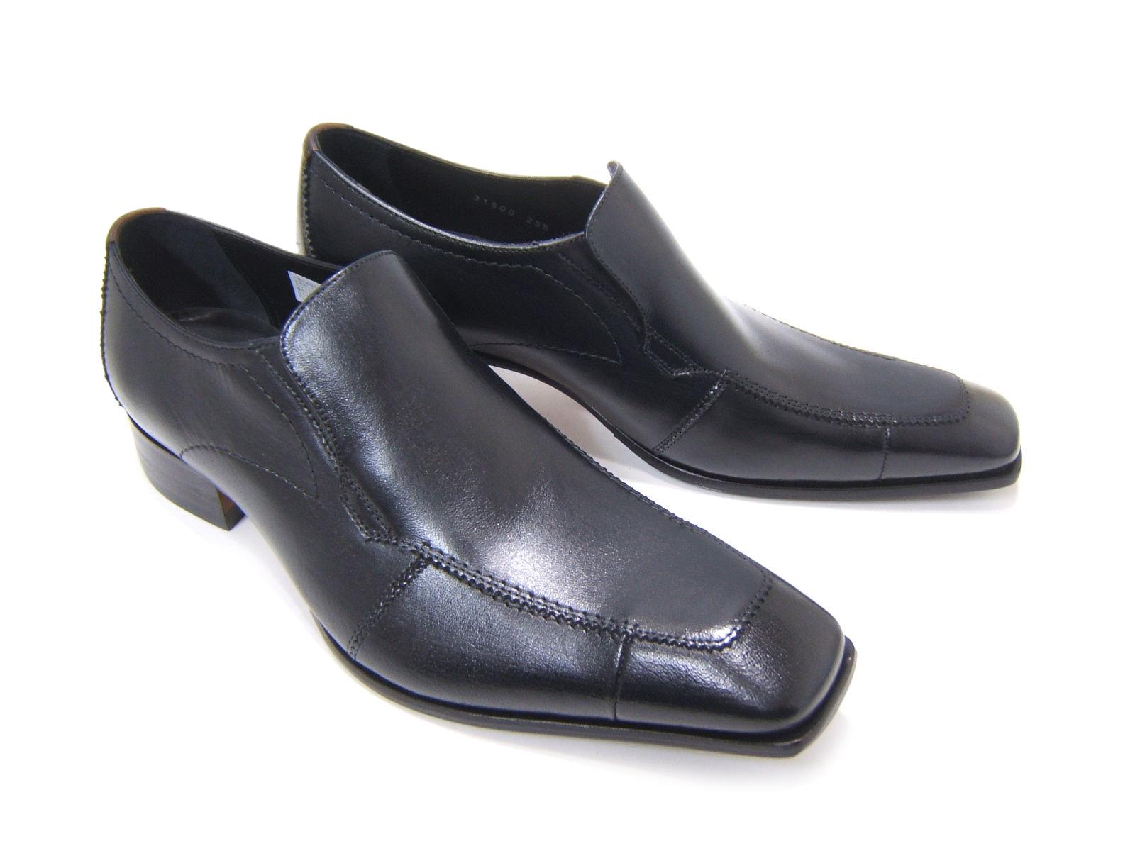 シンプルながら落ち着きのあるブリティッシュスタイル!KATHARINE HAMNETT LONDON キャサリン ハムネット ロンドン紳士靴 31500 ブラック Uチップ スリップオン 送料無料