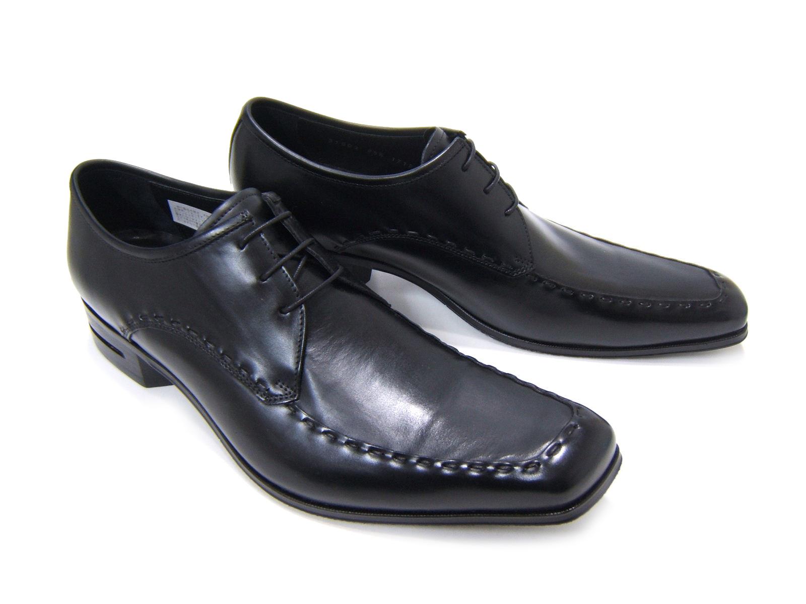 英国で培われた伝統のスタイルを正統継承!KATHARINE HAMNETT LONDON キャサリン ハムネット ロンドン紳士靴 31603 ブラック Uチップ 飾り縫い 外羽根 スクエアトゥ 送料無料