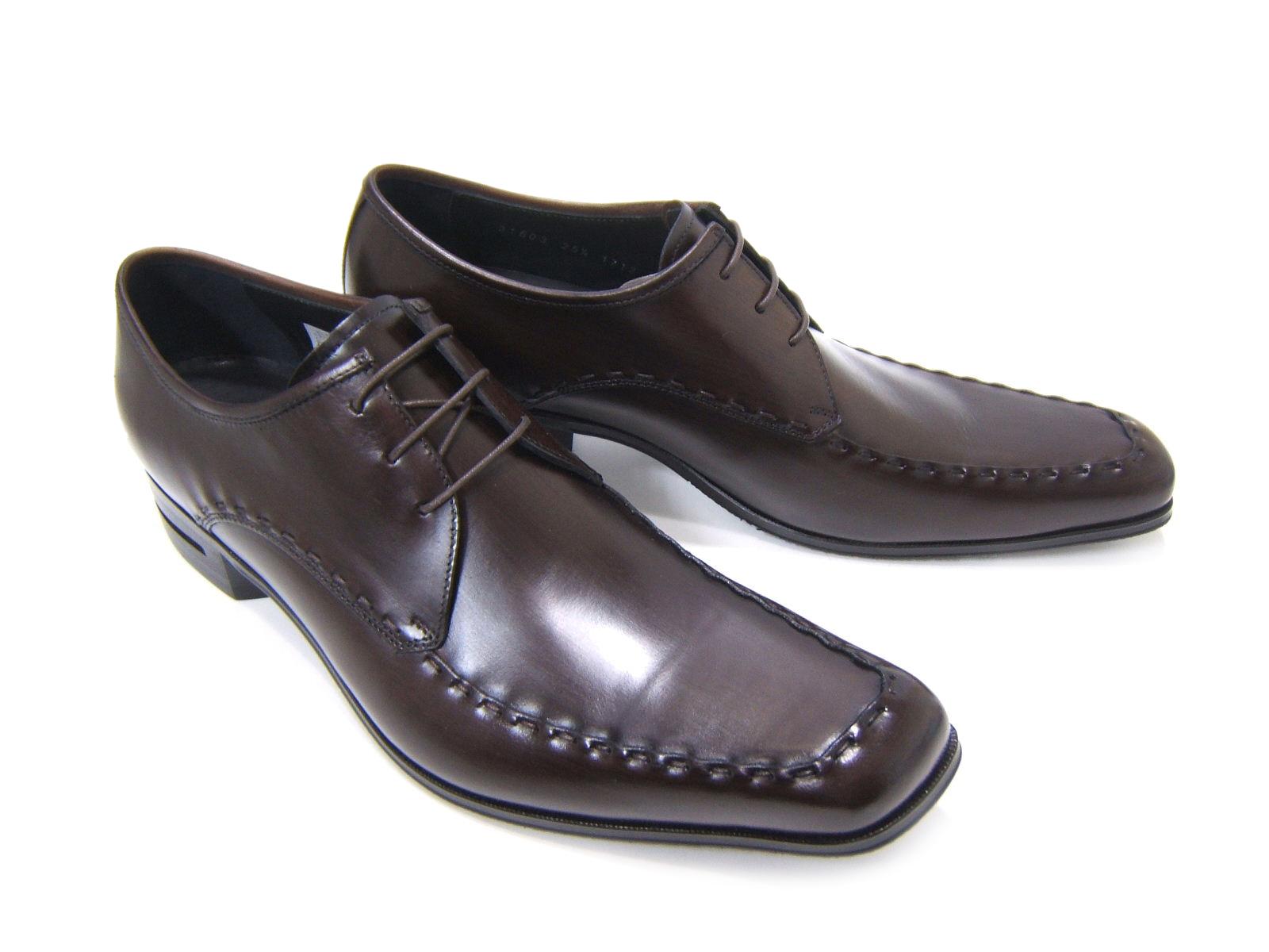 英国で培われた伝統のスタイルを正統継承!KATHARINE HAMNETT LONDON キャサリン ハムネット ロンドン紳士靴 KH-31603 ダークブラウン Uチップ 飾り縫い 外羽根 スクエアトゥ 送料無料
