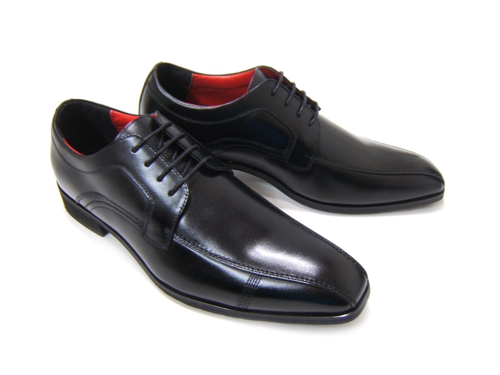 牛革仕様で光沢あるアッパー!信頼の日本製!HIROKO KOSHINO/ヒロコ コシノ ビジネス紳士靴 ブラック レースアップ スクエアHK5553 3Eワイズ ビジネス 送料無料