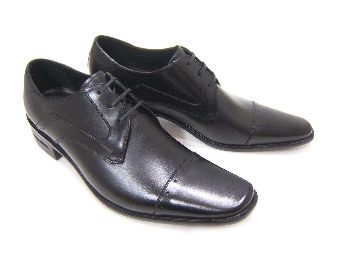シンプルながら落ち着きのある英国スタイル!KATHARINE HAMNETT LONDON キャサリン ハムネット ロンドン紳士靴 KH-31581 ブラック ストレートチップ スクエアトゥ 外羽根 ビジネス 送料無料