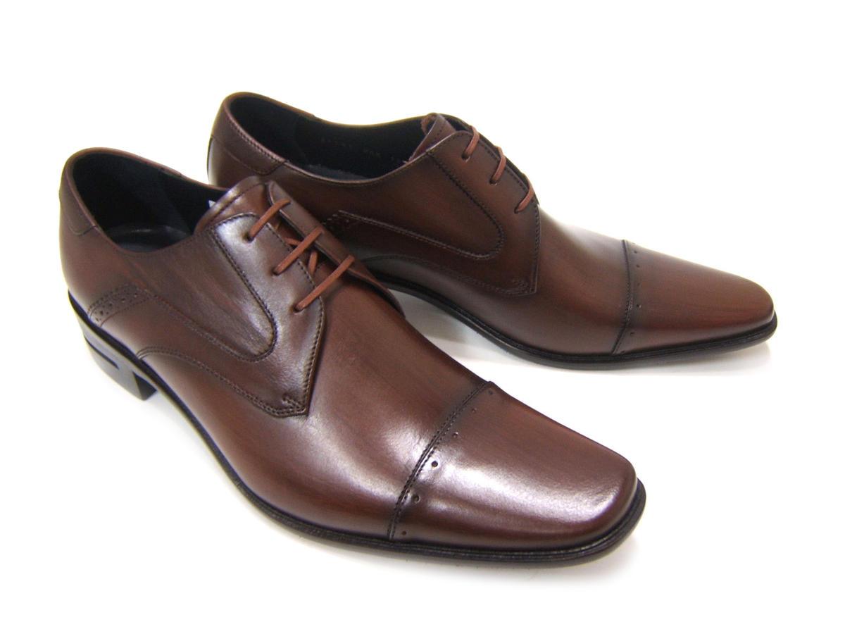 シンプルながら落ち着きのある英国スタイル!KATHARINE HAMNETT LONDON キャサリン ハムネット ロンドン紳士靴 KH-31581 ブラウン ストレートチップ スクエアトゥ 外羽根 ビジネス 送料無料