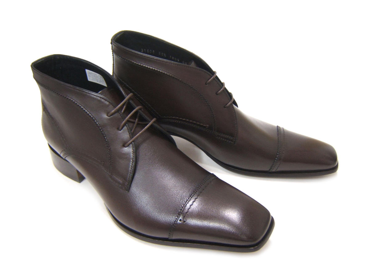 シンプルながら落ち着きのあるブリティッシュスタイル!KATHARINE HAMNETT LONDON キャサリン ハムネット ロンドン紳士靴 KH-31506 ダークブラウン ストレートチップ スクエアトゥ チャッカブーツ ビジネス 送料無料
