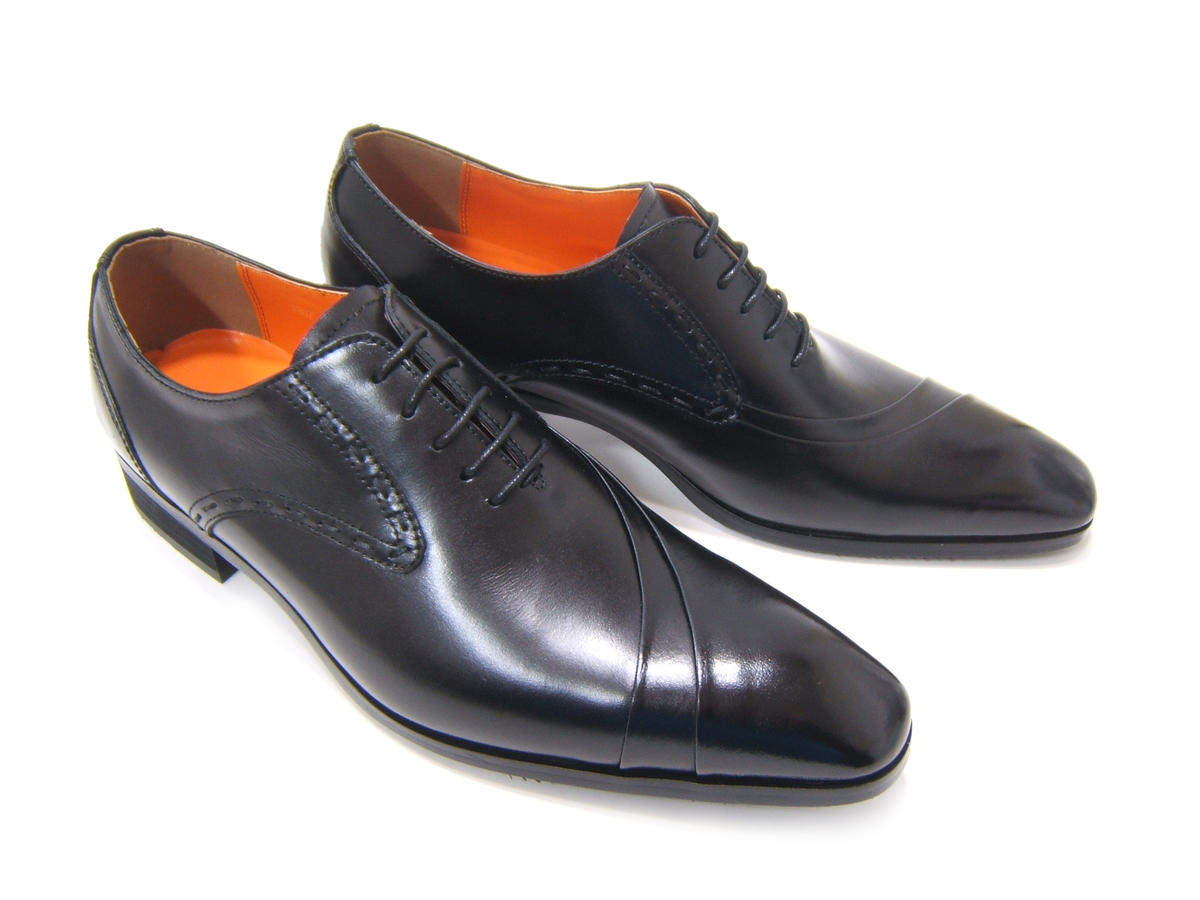 イタリアンモードを体現する上質な革靴!アントニオ ドュカッティ/ANTONIO DUCATI紳士靴 DC-1191 ブラック 片流れ 内羽根 送料無料