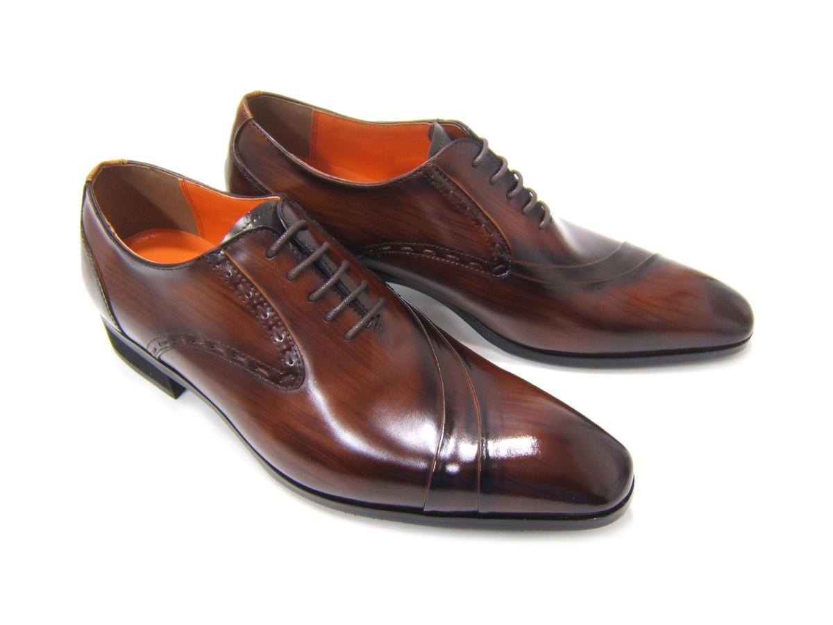 イタリアンモードを体現する上質な革靴!(刷毛筋が見えるこだわりの染色仕様)アントニオ ドュカッティ/ANTONIO DUCATI紳士靴 DC-1191 ダークブラウン 片流れ 内羽根 送料無料