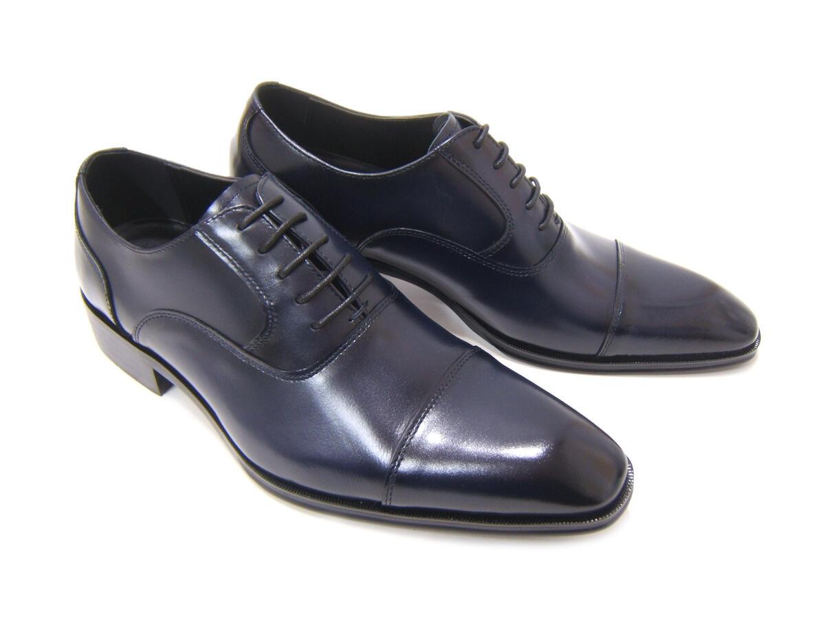 上品でエレガントなイタリアンモード!アントニオ ドュカッティ/ANTONIO DUCATI 紳士靴 DC-1180 ネイビー ストレートチップ 内羽根 送料無料