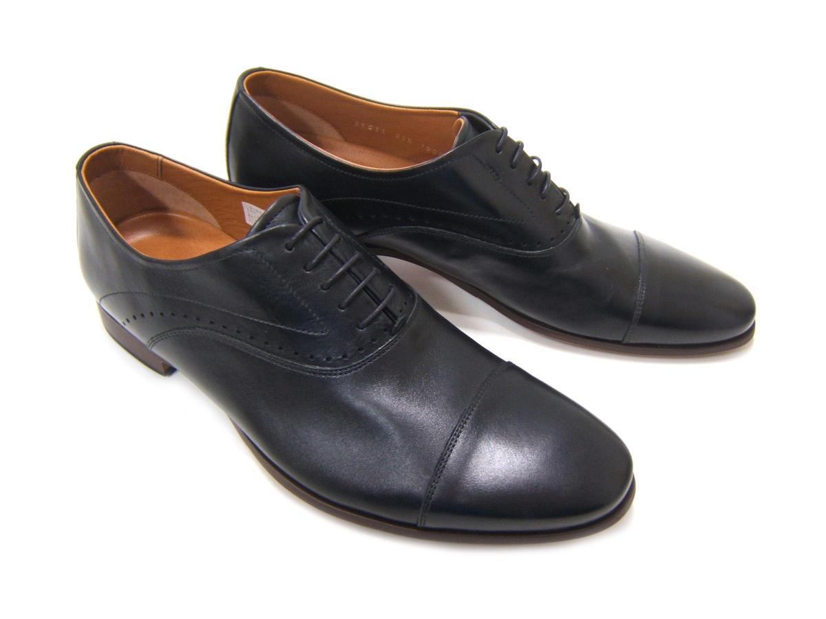 柔らかなキップレザーで仕上げた上質な1足!KATHARINE HAMNETT LONDON キャサリン ハムネット ロンドン紳士靴 31611 ブラック ストレートチップ 内羽根 ビジカジ カジュアル 送料無料