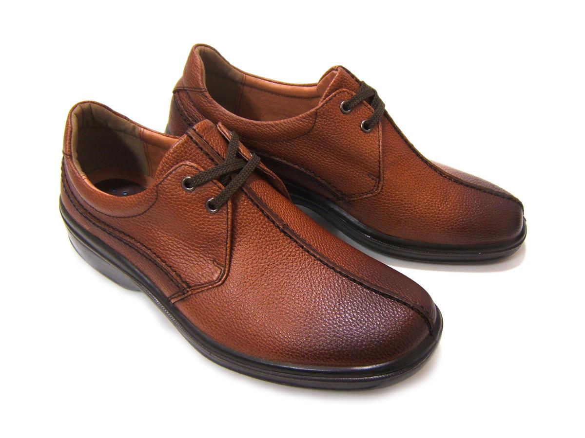 毎日履きたい至極のビジネスコンフォート!ARUKURUN/アルクラン 紳士靴 プレーントゥ オブリークラン型 レースアップ AR-2216 ブラウン 送料無料 日本製 4Eワイズ