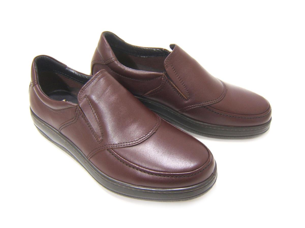 毎日履きたい至極のウォーク&ワークシューズ!ARUKURUN/アルクラン 紳士靴 Uチップ スリップオン AR-3903 ダークブラウン 送料無料 日本製 防水加工 4Eワイズ
