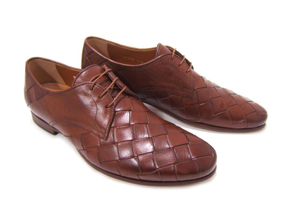 大胆な編み込みアッパーが印象的な紳士靴!KATHARINE HAMNETT LONDON キャサリン ハムネット ロンドン 紳士靴 KH-31635 ブラウン レースアップ プレーン ビジカジ カジュアル 送料無料