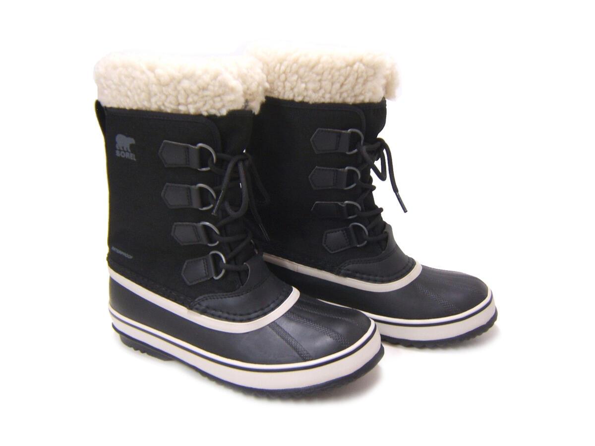 SOREL ウィンターブーツ ナイロン ボア 防寒 防水ラバー 数量限定 雪 長靴 スノーブーツ 極寒にも雨にも負けないスノーブーツ ウィンター カーニバル 安心と信頼 レディース 送料無料 ウィメンズ ソレル ブラックストーン NL-3483