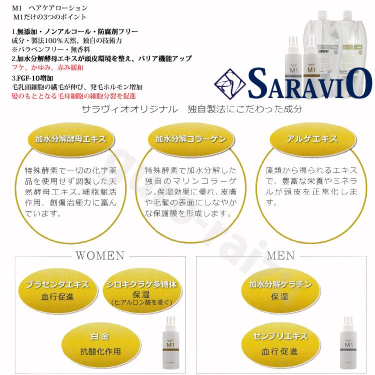 供M1头发护理化妆水120ml MEN男性使用的saravio化妆品QUALITA'SARAVIO M一(10008776)