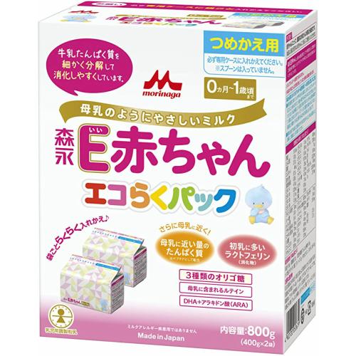 粉ミルク 価格 交渉 送料無料 E赤ちゃん 森永E赤ちゃん エコらくパックつめかえ用5箱セット 誕生日/お祝い