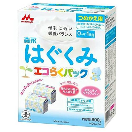 ●手数料無料!! 粉ミルク はぐくみ 2020 新作 送料無料 森永はぐくみエコらくパックつめかえ用5箱セット