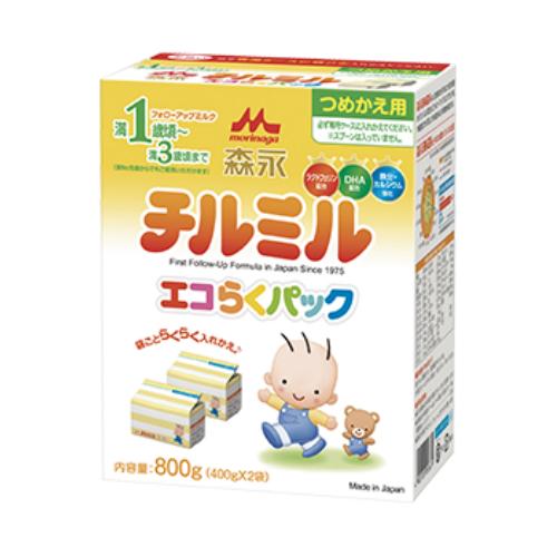 粉ミルク/チルミル/送料無料/森永チルミルエコらくパックつめかえ用 5箱セット(1箱400g×2袋)