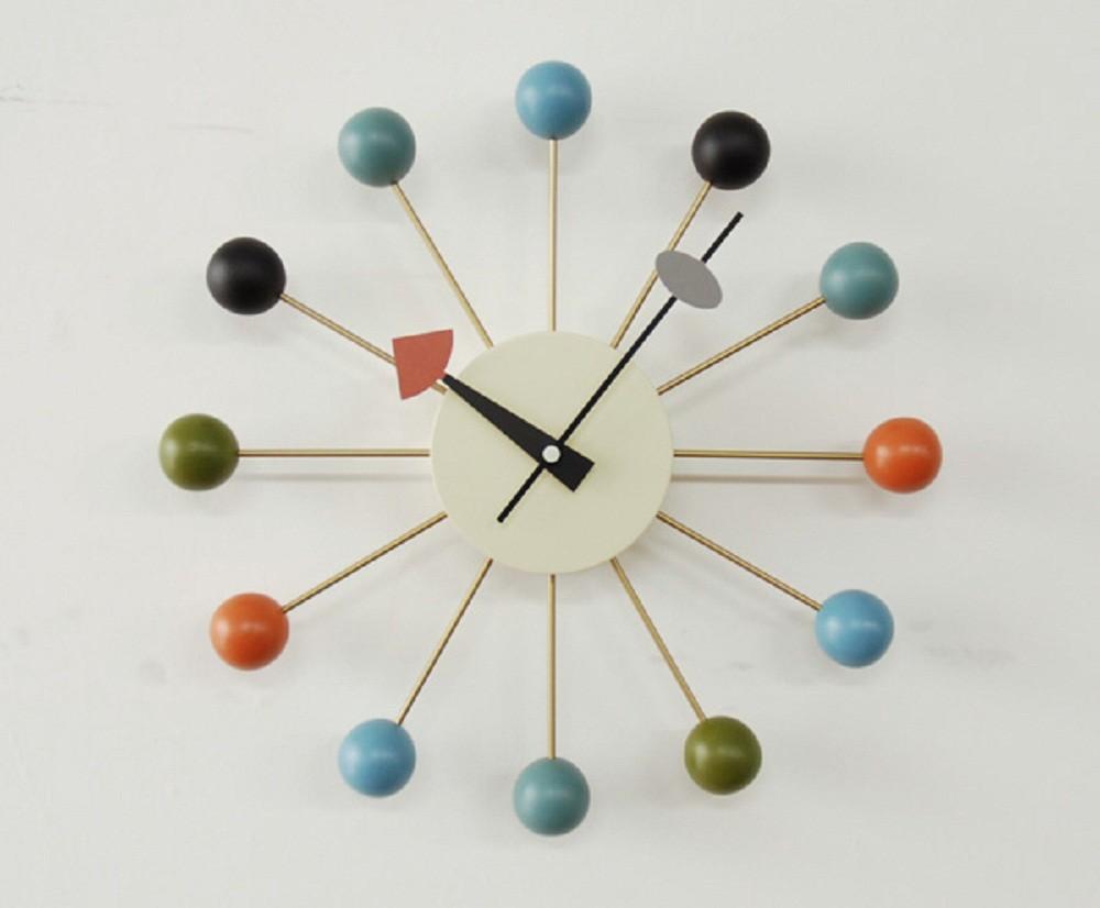 【時間指定不可】キッチュでキュートな「ジョージ・ネルソン」の名作中の名作クロック【ボール・クロック】【関東・北関東・関西・北信越・山梨県・東海地方は送料無料です】