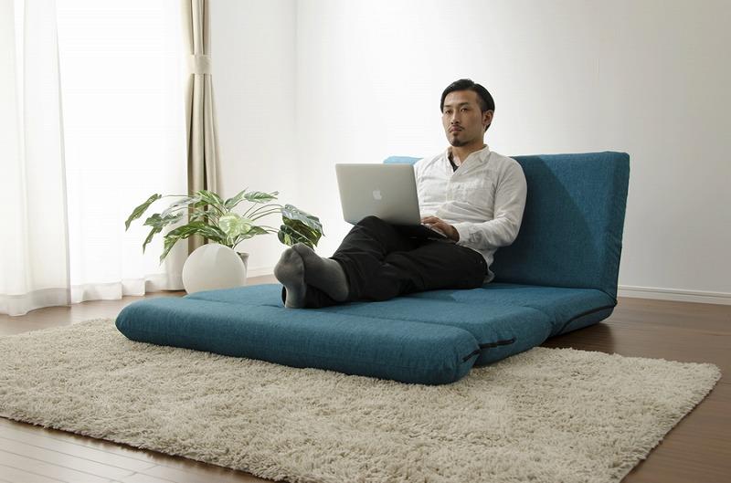 【送料無料】「MORIITO」カバー洗濯可能 選べる6色カバーリングソファベッド