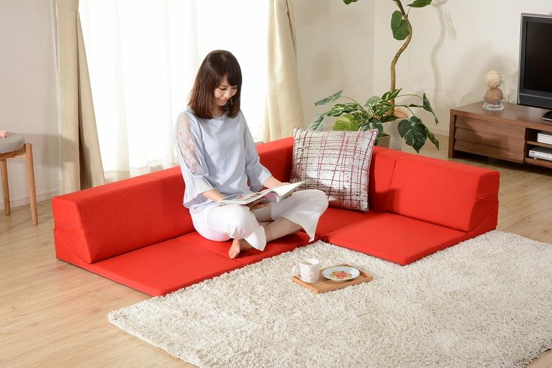 【送料無料】ローコーナーソファ 3点セット 和楽の星(WARAKU NO HIKARI)