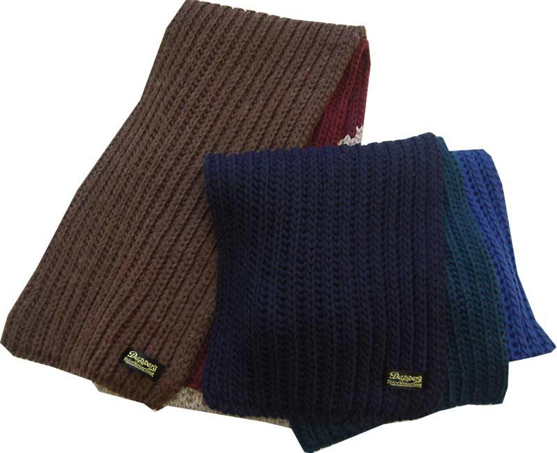 Dapper's ダッパーズ 小物 Bold Border Low Gauge Knit Scarf 【GEOMETRY】