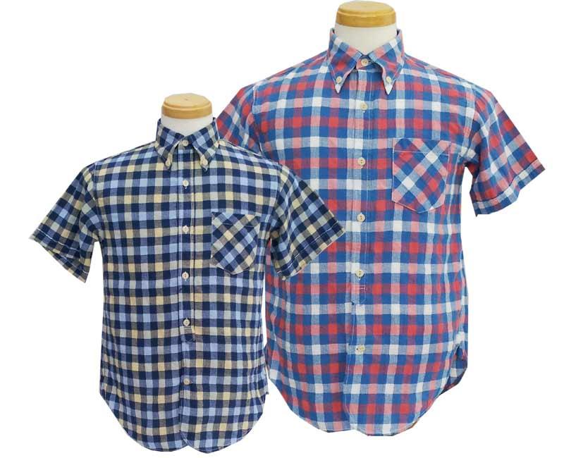 CUSHMANクッシュマン シャツ PANAMA CLOTH CHECK B.D SHIRTS