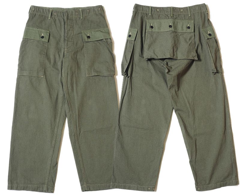 WAREHOUSE ウエアハウス ジーンズ 1097 USMC HERRINGBONE MONKEY PANTS