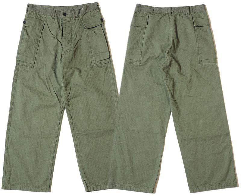 WAREHOUSE ウエアハウス ジーンズ 1098 U.S.ARMY HERRINGBONE PANTS(O.DGREEN)