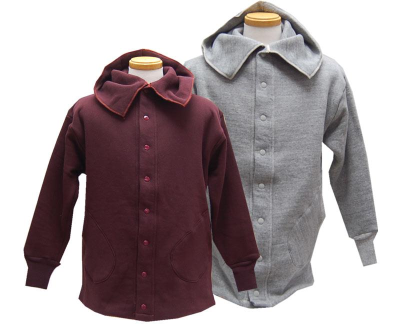 HELLER'S CAFEヘラーズカフェ スウェット Coat style Full Snap Double Face Sweatshirts
