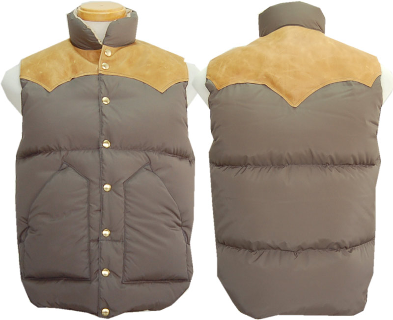 WAREHOUSEウエアハウス ダウンベスト ROCKY MOUNTAIN×WAREHOUSE NYLON DOWN VEST