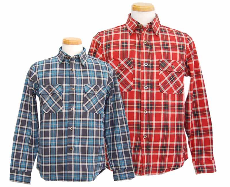 TWO MOONトゥームーン 長袖シャツ 720 フランネルシャツ (レッド ・ ブラック) 2017