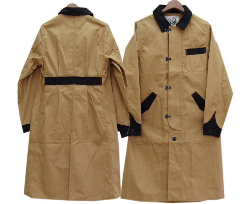 DAPPER'Sダッパーズ コート Classical Front Hook Engineers Coat LOT1237(KHAKI BEIGE/BLACK)