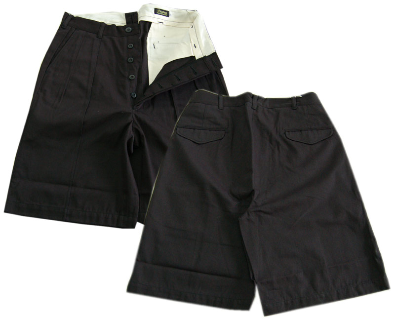 DAPPER'Sダッパーズ ショートパンツ Center Pleated Classic Shorts LOT1238(BLACK)
