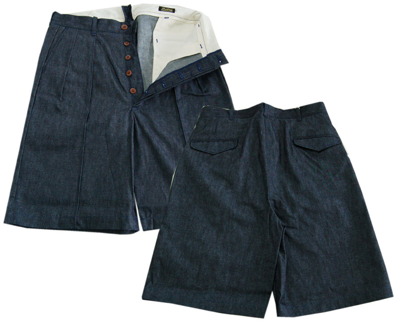 DAPPER'Sダッパーズ ショートパンツ Center Pleated Classic Shorts LOT1238(INDIGO DENIM)