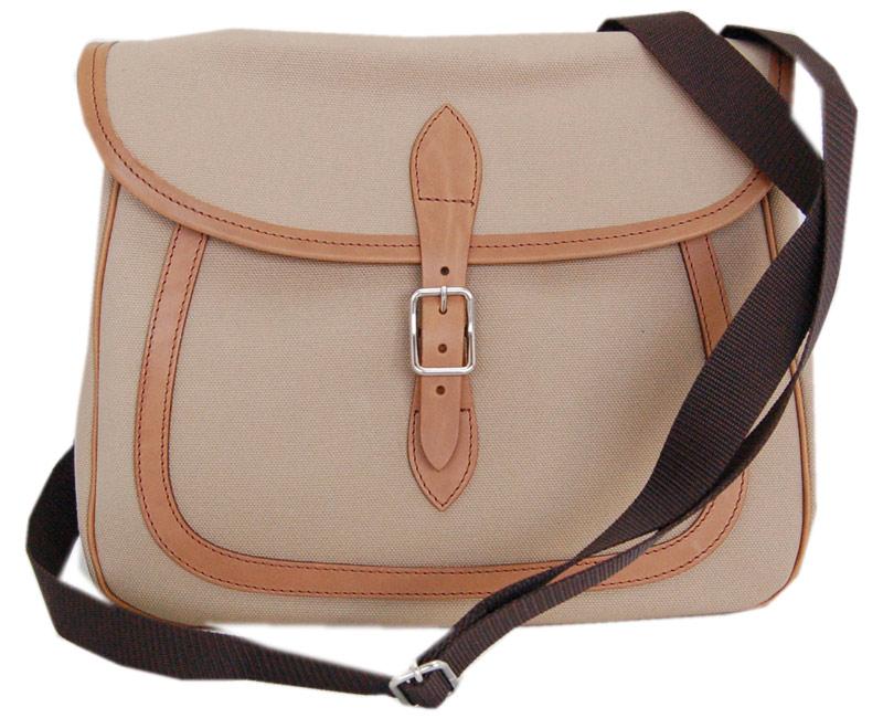 DAPPER'Sダッパーズ バック Leather×Canvas Combination Mini Shoulder Bag LOT1255(DARK BEIGE)