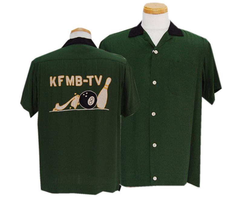 """STYLE EYES スタイルアイズ RAYON BOWLING """"KFMB-TV""""(GREEN)"""