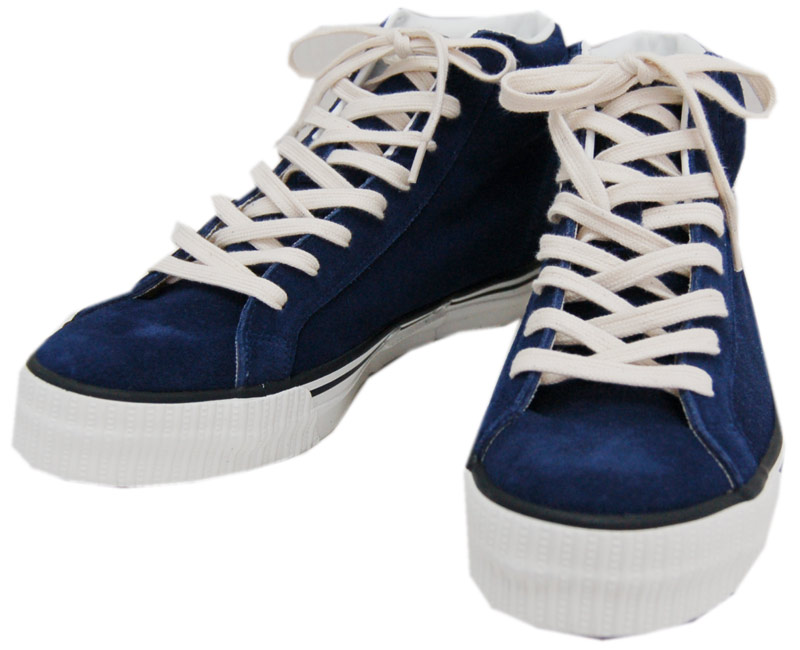 WAREHOUSEウエアハウス スニーカー 3401 HI CUT SUEDE SNEAKER(NAVY BLUE)