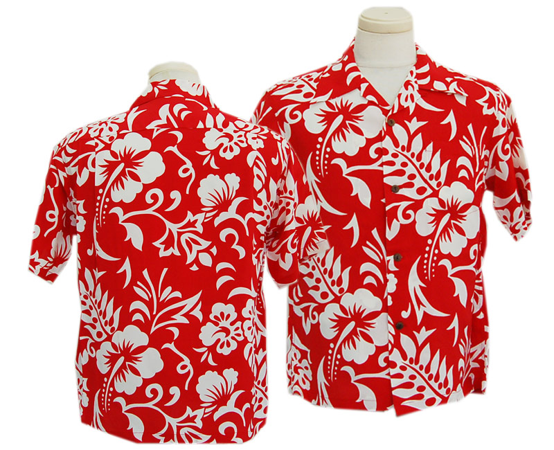 "SunSurf サンサーフ 半袖 2020 S/S RAYON HAWAIIAN SHIRT ""HAWAIIAN CUT OUT""(165:RED)"