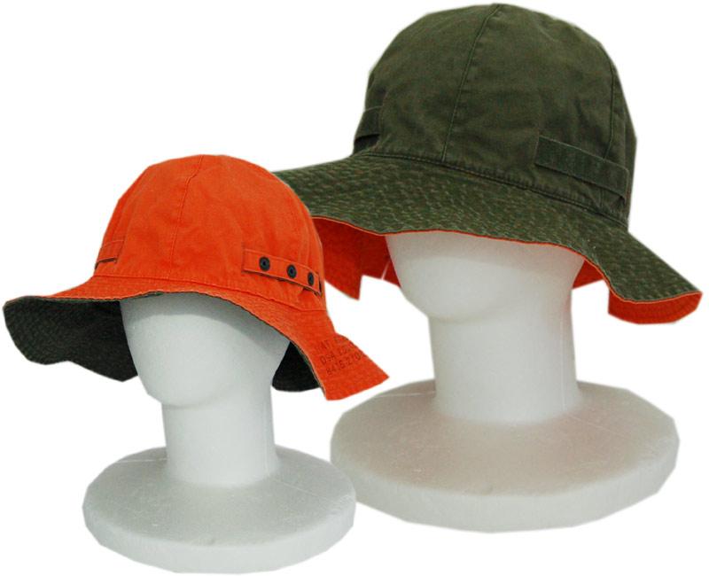 Buzz Rickson's(バズリクソンズ) 帽子 HAT REVERSIBLE. SUN(OLIVE/ORANGE)