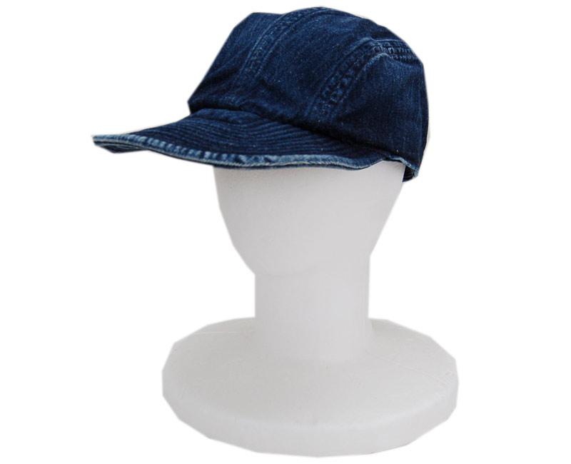 WAREHOUSEウエアハウス 帽子 5226 USN EXPERIMENTAL DENIM CAP USED WASH(濃)