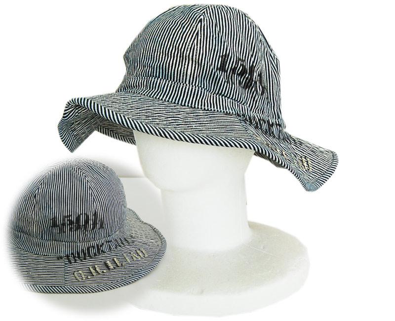 COLIMBOコリンボ 帽子 【TAKE OFF別注 】カスタム Doughbay Hat Stencils(ヒッコリーストライプ)