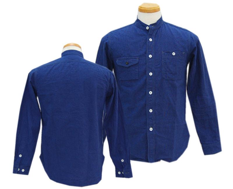 COLIMBOコリンボ 長袖シャツ GARIBALDI GARDEN SHIRT(BLACK/BLUE)