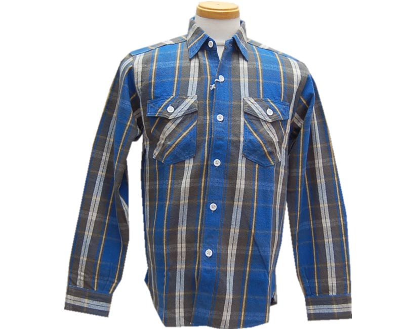 WAREHOUSE ウエアハウス 【COPPER KINGカッパーキング】FLANNEL SHIRTS A柄 O/W