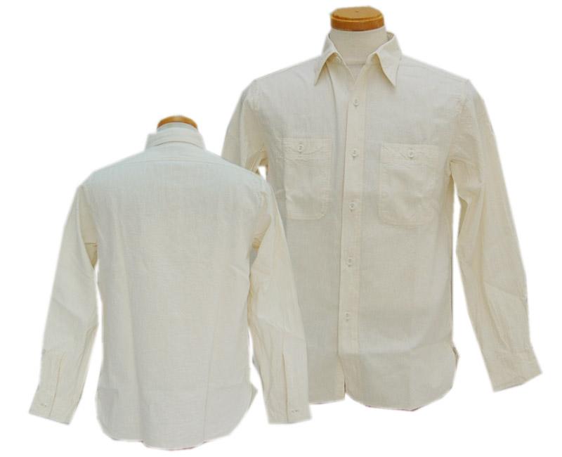 Buzz Rickson's(バズリクソンズ) 長袖シャツ ホワイトシャンブレーシャツ