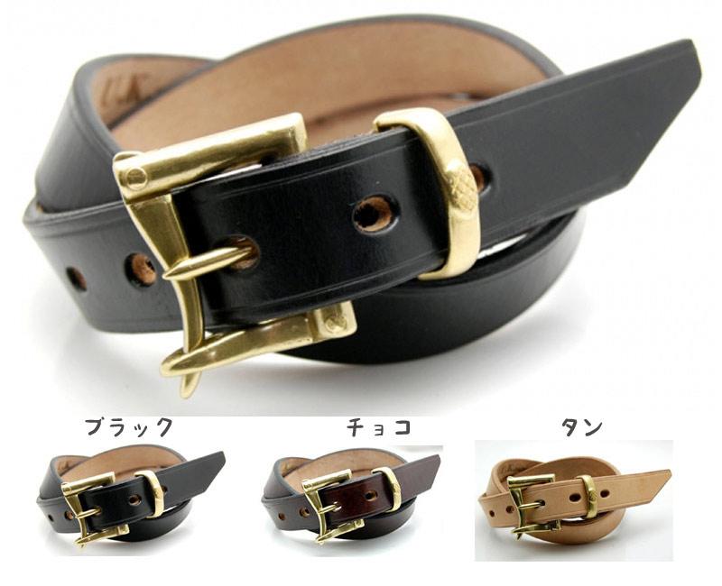 ART BROWN アートブラウン UKサドルレザー ファイヤーマンベルト (ゴールド) 33mm
