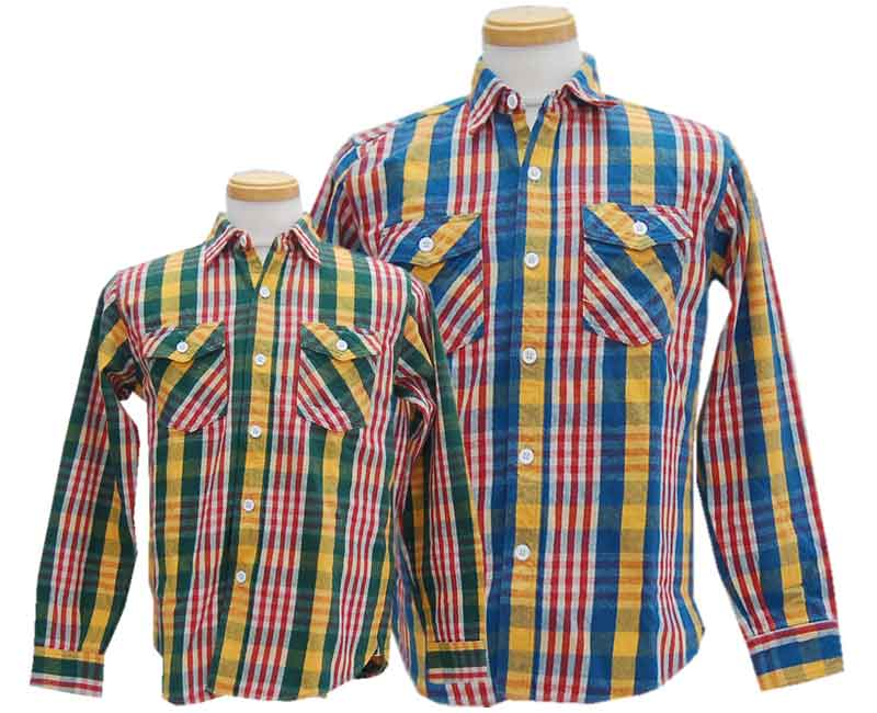 WAREHOUSE ウエアハウス 【COPPER KINGカッパーキング】FLANNEL SHIRTS B柄